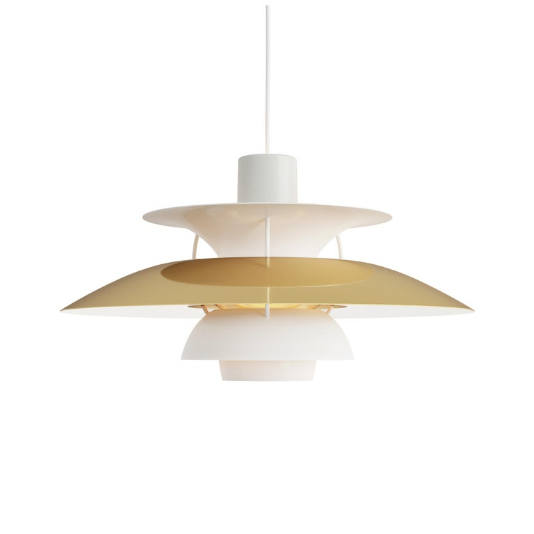 For Sale: Gold (brass.jpg) Louis Poulsen PH 5 Pendant Light by Poul Henningsen