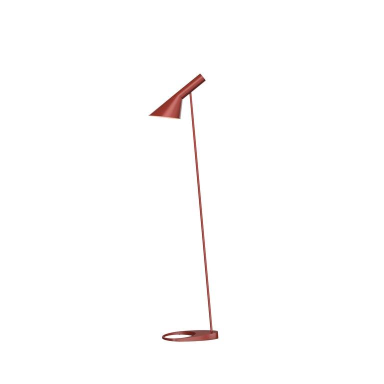 For Sale: Red (rusty red.jpg) Louis Poulsen AJ Floor Lamp by Arne Jacobsen