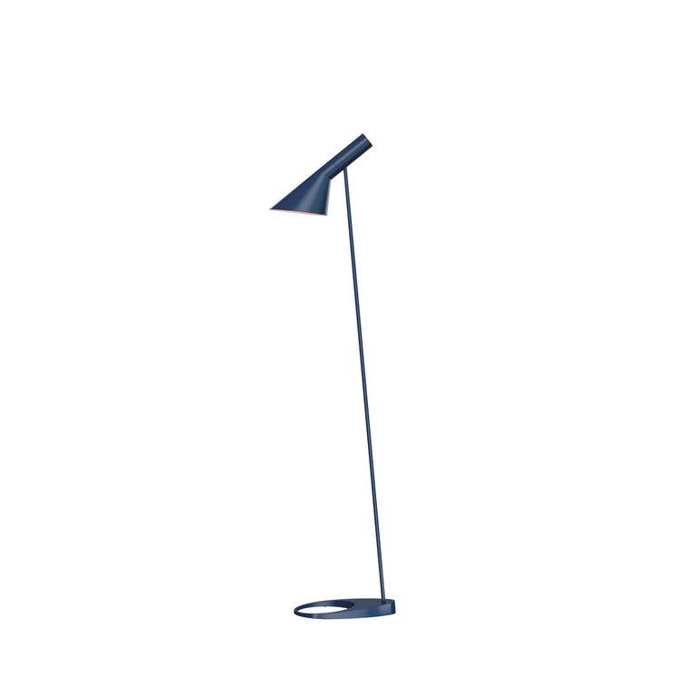 For Sale: Blue (midnight blue.jpg) Louis Poulsen AJ Floor Lamp by Arne Jacobsen