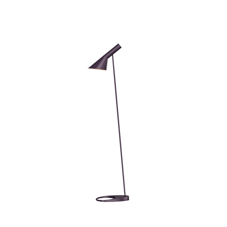 For Sale: Purple (aubergine.jpg) Louis Poulsen AJ Floor Lamp by Arne Jacobsen
