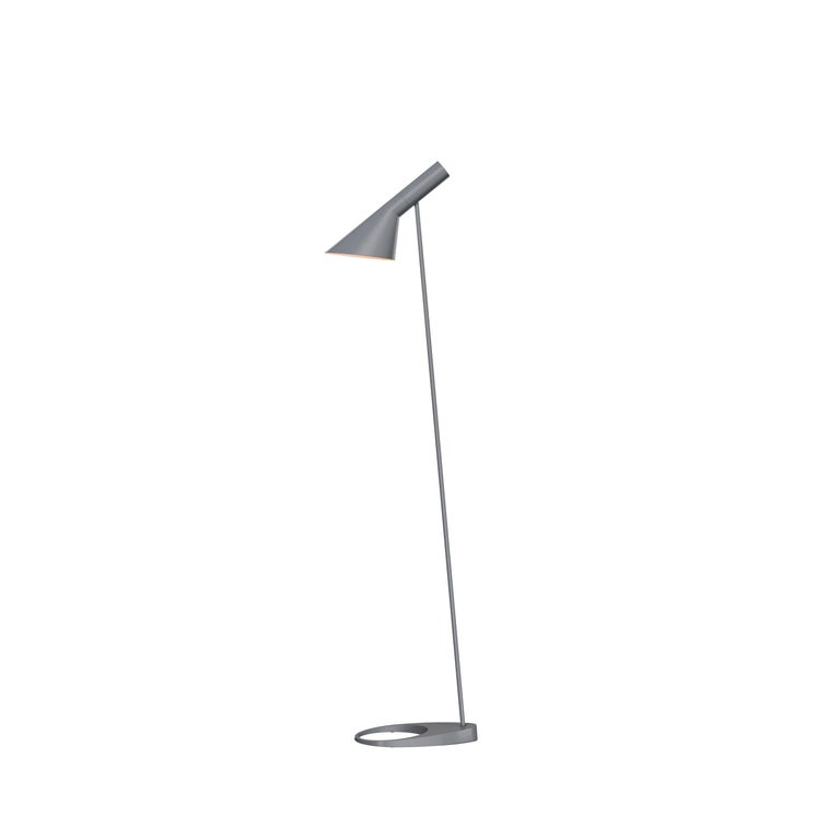 For Sale: Gray (dark grey.jpg) Louis Poulsen AJ Floor Lamp by Arne Jacobsen