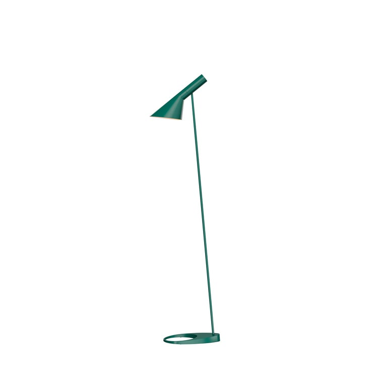 For Sale: Green (dark green.jpg) Louis Poulsen AJ Floor Lamp by Arne Jacobsen