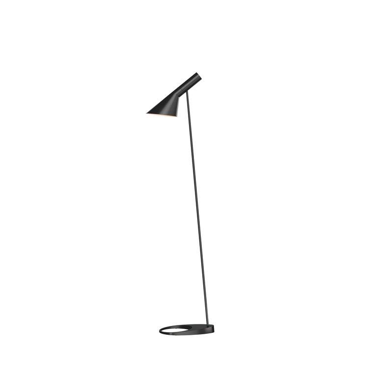 For Sale: Black (black.jpg) Louis Poulsen AJ Floor Lamp by Arne Jacobsen