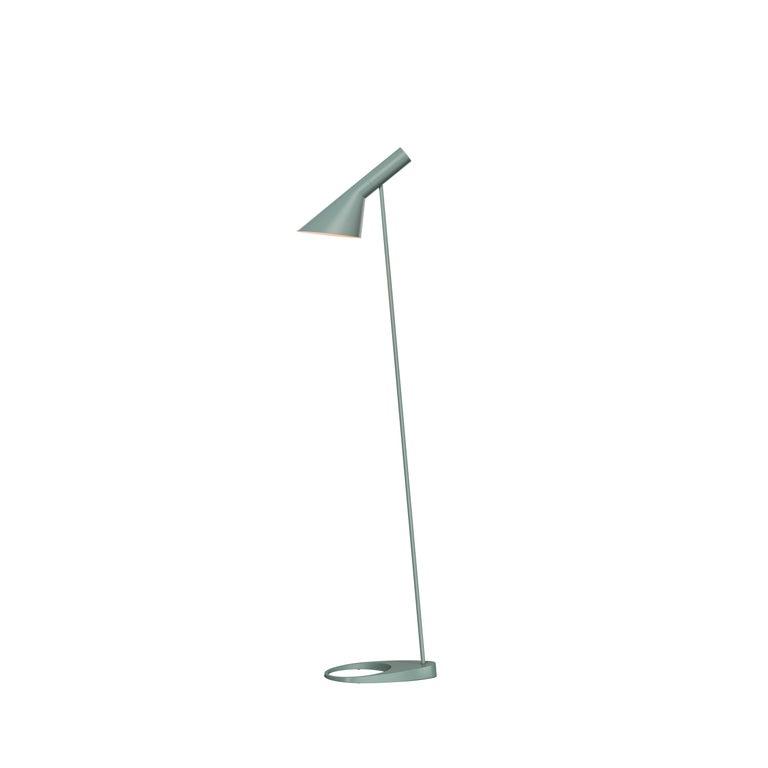 For Sale: Green (pale petroleum.jpg) Louis Poulsen AJ Floor Lamp by Arne Jacobsen