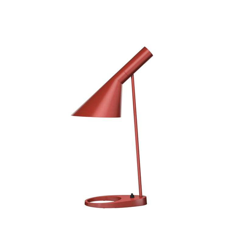 For Sale: Red (rusty red.jpg) Louis Poulsen AJ Table Lamp by Arne Jacobsen