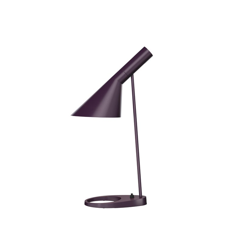 For Sale: Purple (aubergine.jpg) Louis Poulsen AJ Table Lamp by Arne Jacobsen