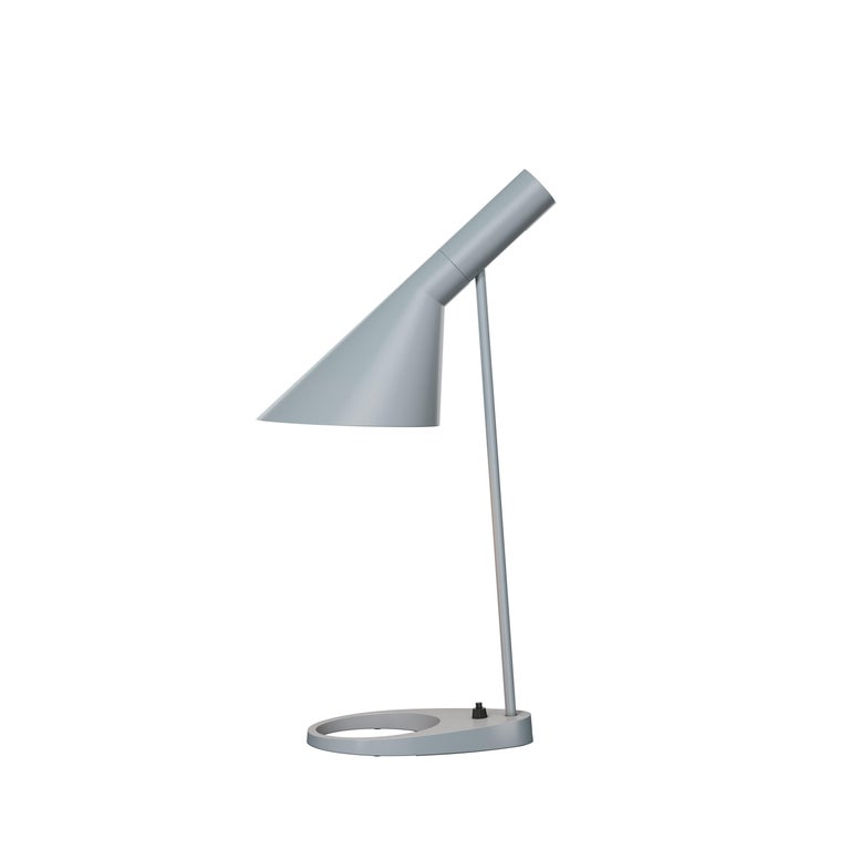 For Sale: Gray (light grey.jpg) Louis Poulsen AJ Table Lamp by Arne Jacobsen