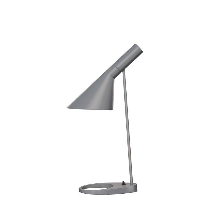 For Sale: Gray (dark grey.jpg) Louis Poulsen AJ Table Lamp by Arne Jacobsen