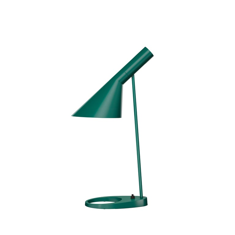 For Sale: Green (dark green.jpg) Louis Poulsen AJ Table Lamp by Arne Jacobsen