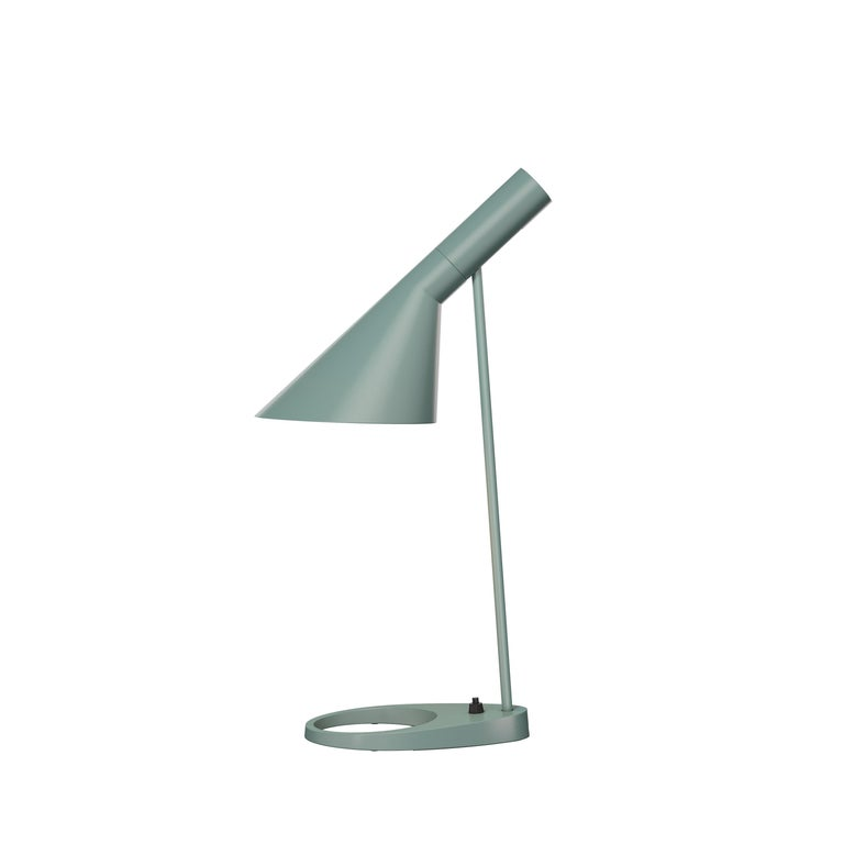 For Sale: Green (pale petroleum.jpg) Louis Poulsen AJ Table Lamp by Arne Jacobsen
