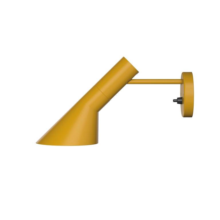 For Sale: Yellow (yellow ochre.jpg) Louis Poulsen AJ Wall Lights by Arne Jacobsen