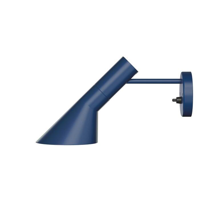 For Sale: Blue (midnight blue.jpg) Louis Poulsen AJ Wall Lights by Arne Jacobsen