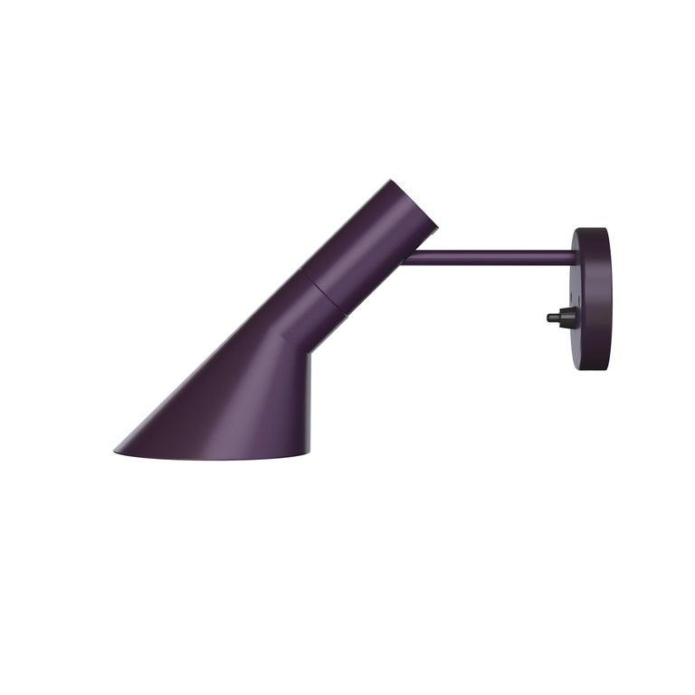 For Sale: Purple (aubergine.jpg) Louis Poulsen AJ Wall Lights by Arne Jacobsen