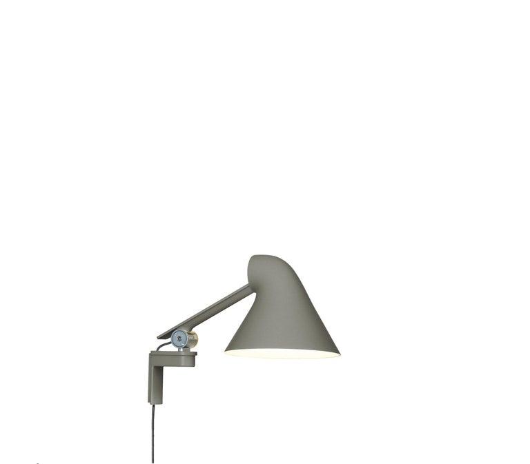 For Sale: Gray (dark aluminum grey.jpg) Louis Poulsen NJP Wall Short Lamp by Nendo, Oki Sato