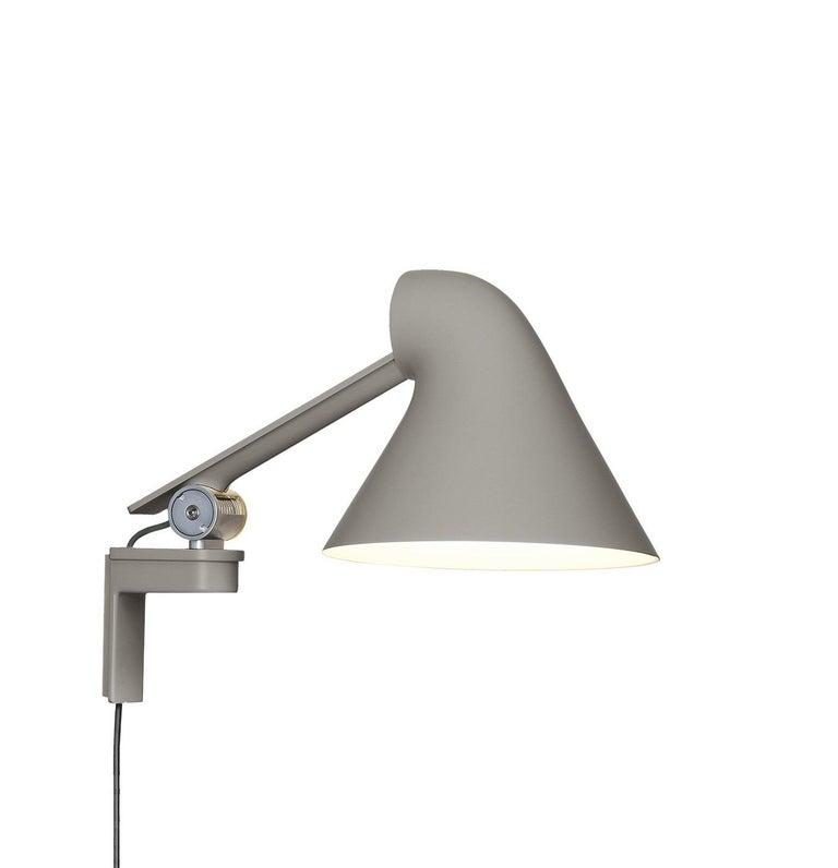 For Sale: Gray (light aluminum grey.jpg) Louis Poulsen NJP Wall Short Lamp by Nendo, Oki Sato