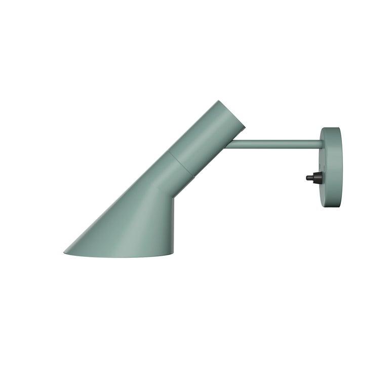For Sale: Green (pale petroleum.jpg) Louis Poulsen AJ Wall Lights by Arne Jacobsen