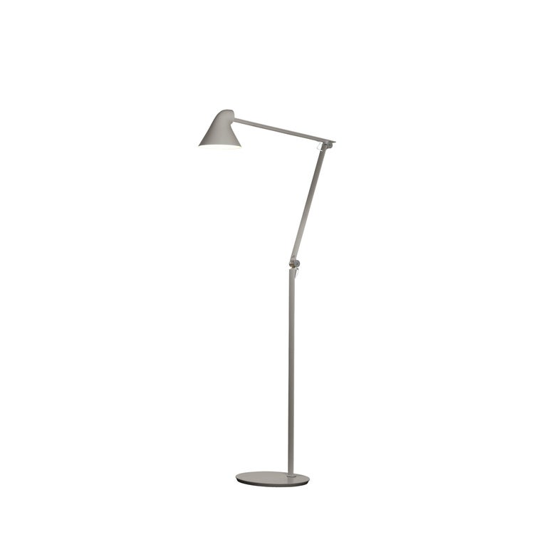 For Sale: Gray (light aluminum grey.jpg) Louis Poulsen NJP Floor Lamp by Nendo, Oki Sato