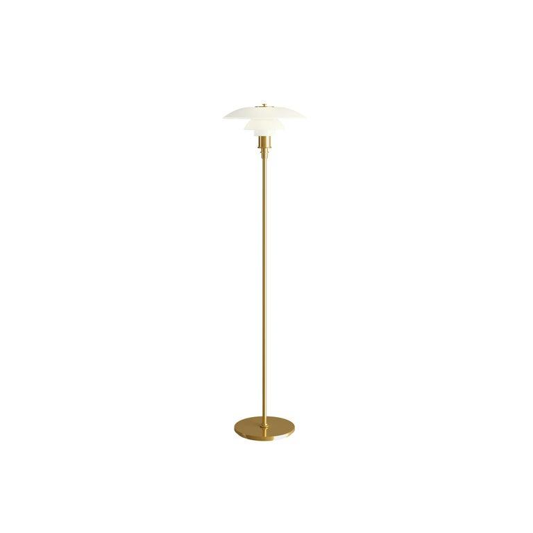 For Sale: Gold (brass.jpg) Louis Poulsen PH 3½-2½ Floor Lamp by Poul Henningsen