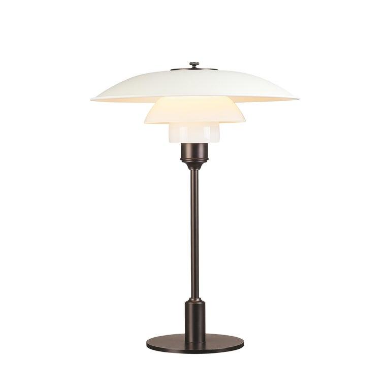 For Sale: White (white.jpg) Louis Poulsen PH 3½-2½ Color Table Lamp by Poul Henningsen
