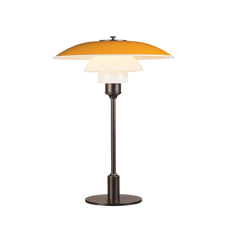 For Sale: Yellow (yellow.jpg) Louis Poulsen PH 3½-2½ Color Table Lamp by Poul Henningsen
