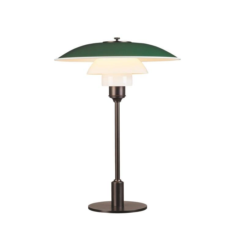 For Sale: Green (green.jpg) Louis Poulsen PH 3½-2½ Color Table Lamp by Poul Henningsen