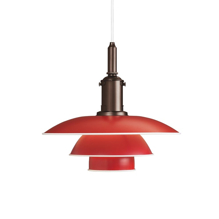 For Sale: Red (red.jpg) Louis Poulsen PH 3½-3 Color Pendant by Poul Henningsen