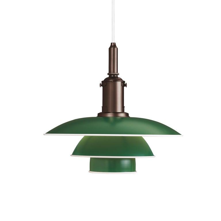 For Sale: Green (green.jpg) Louis Poulsen PH 3½-3 Color Pendant by Poul Henningsen
