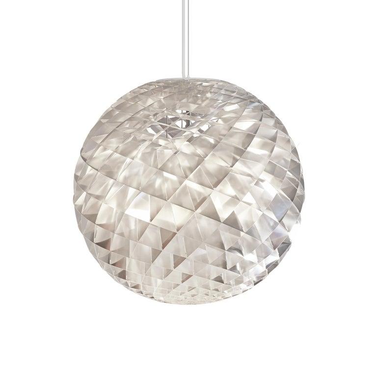 For Sale: Silver (patera silver.jpg) Louis Poulsen Large Patera Pendant Light by Øivind Slaatto