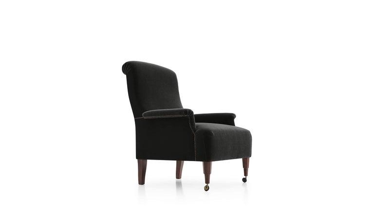 For Sale: Black (MOHAIR/D VELVET BLACK -2971150) Azucena ABCD Armchair by Luigi Caccia Dominioni
