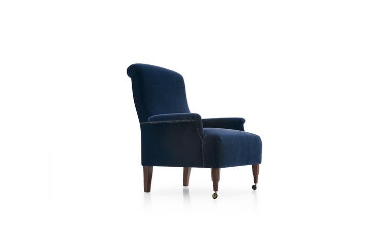 For Sale: Blue (MOHAIR/D VELVET BLUE 2971800) Azucena ABCD Armchair by Luigi Caccia Dominioni