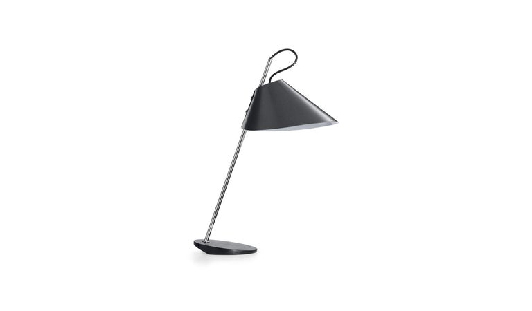 For Sale: Gray (0600C - Chromed finish) Azucena Base Ghisa Table Lamp by Luigi Caccia Dominioni