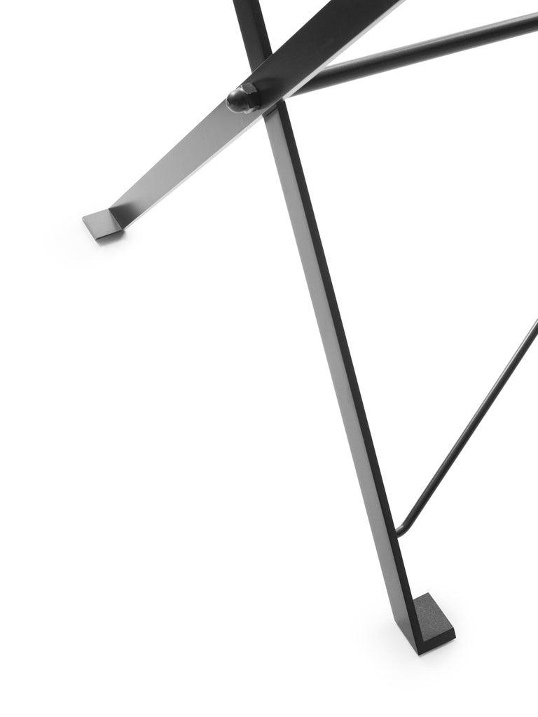 For Sale: Gray (1006L Anthracite Grey) Azucena Large Cavalletto Oval Table By Luigi Caccia Dominioni 2
