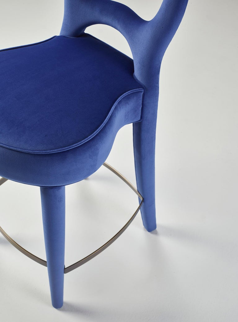 For Sale: Blue (rainbow 3.jpg) Promemoria Bilou Bilou Stool Covered in Fabric by Romeo Sozzi 2