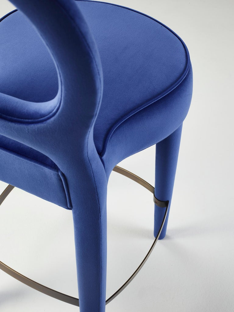 For Sale: Blue (rainbow 3.jpg) Promemoria Bilou Bilou Stool Covered in Fabric by Romeo Sozzi 3