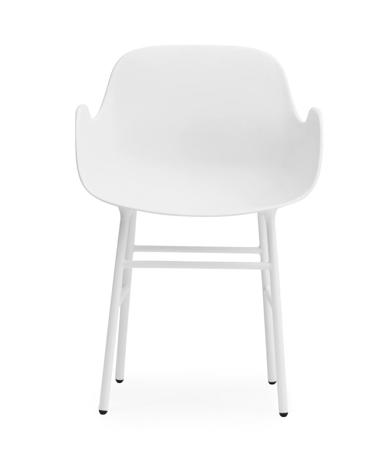 For Sale: White (Form White) Normann Copenhagen Form Armchair in Steel by Simon Legald 2