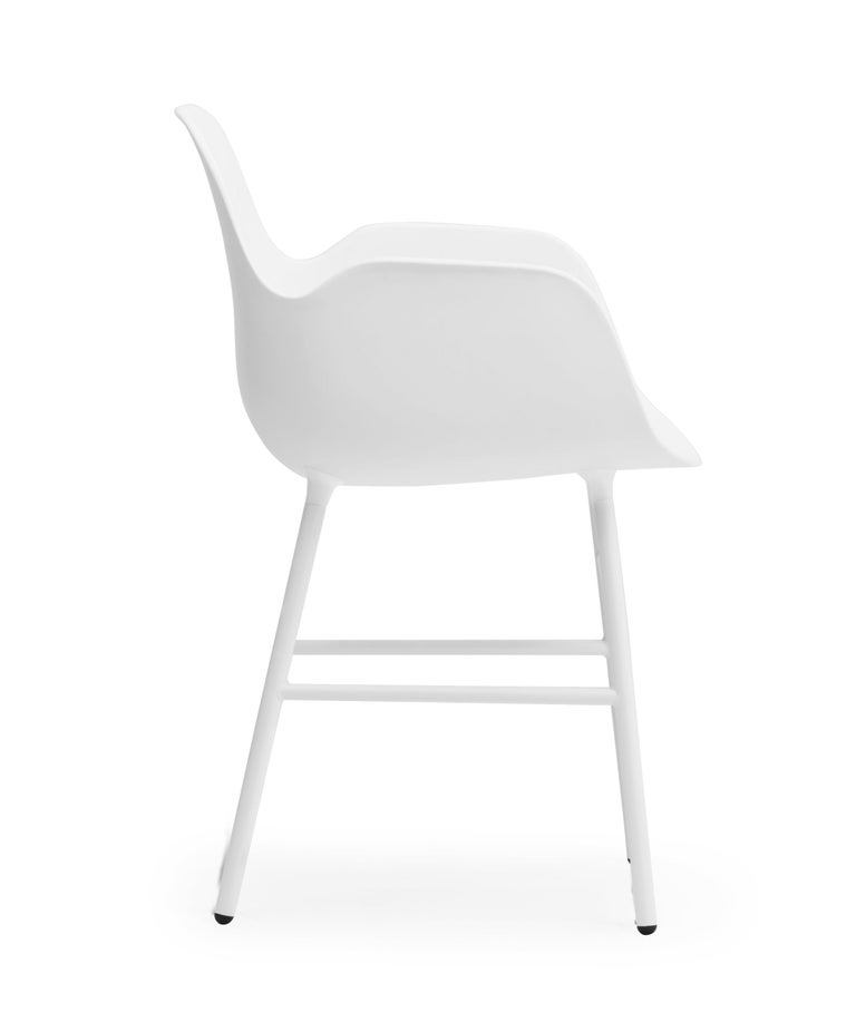 For Sale: White (Form White) Normann Copenhagen Form Armchair in Steel by Simon Legald 3