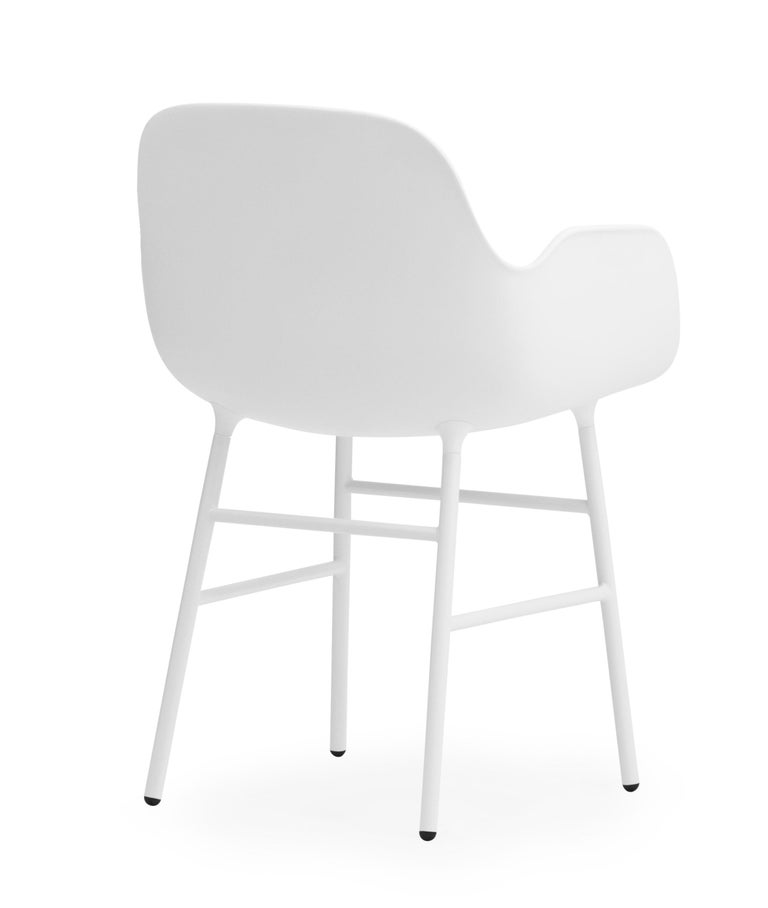 For Sale: White (Form White) Normann Copenhagen Form Armchair in Steel by Simon Legald 4