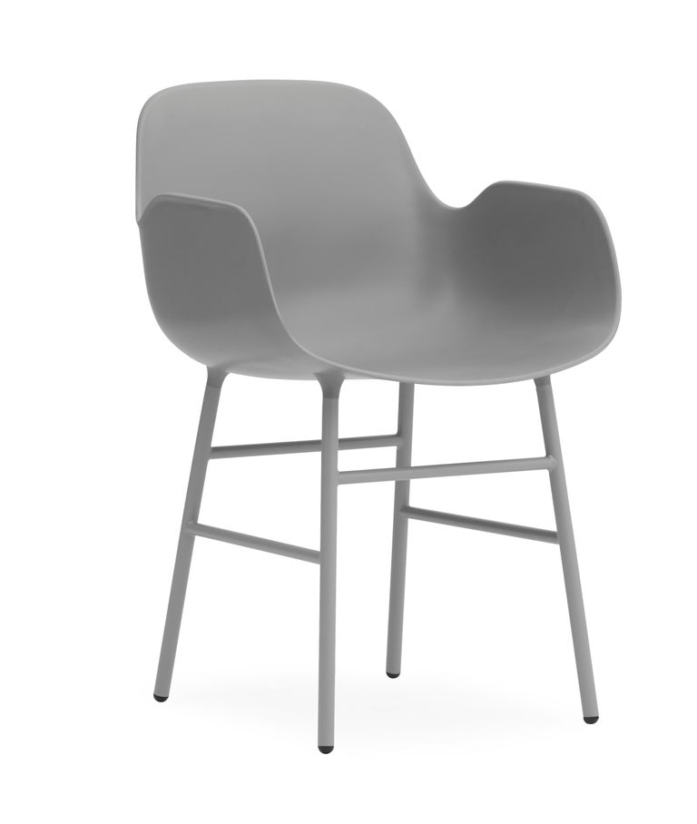 For Sale: Gray (Form Gray) Normann Copenhagen Form Armchair in Steel by Simon Legald