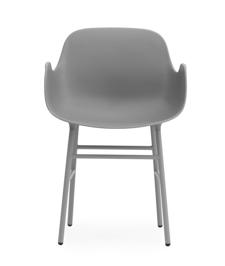For Sale: Gray (Form Gray) Normann Copenhagen Form Armchair in Steel by Simon Legald 2