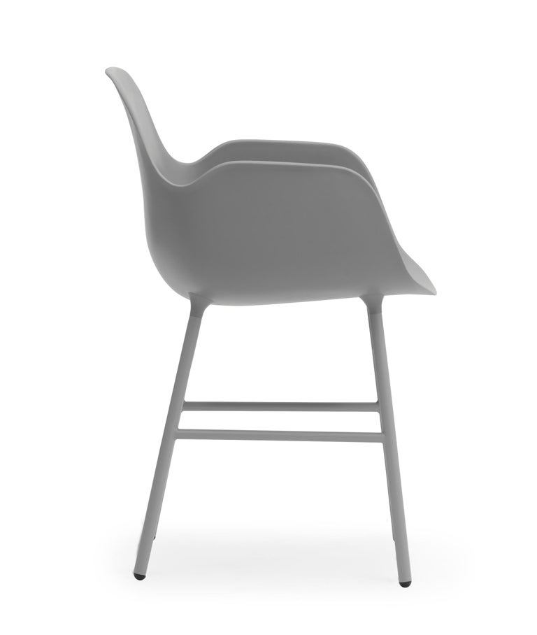 For Sale: Gray (Form Gray) Normann Copenhagen Form Armchair in Steel by Simon Legald 3