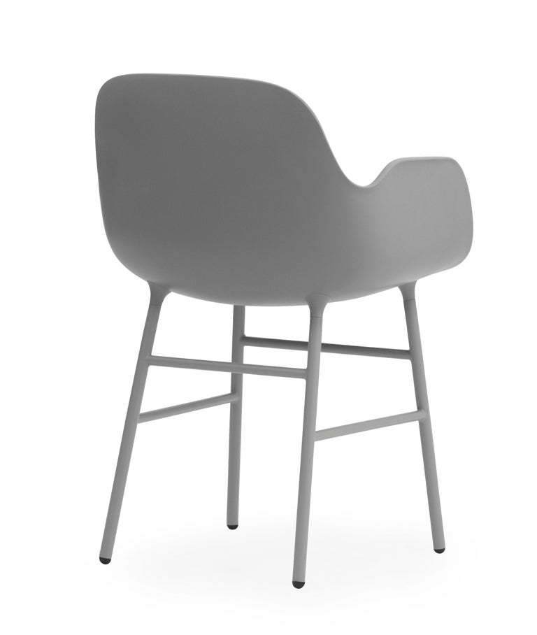 For Sale: Gray (Form Gray) Normann Copenhagen Form Armchair in Steel by Simon Legald 4