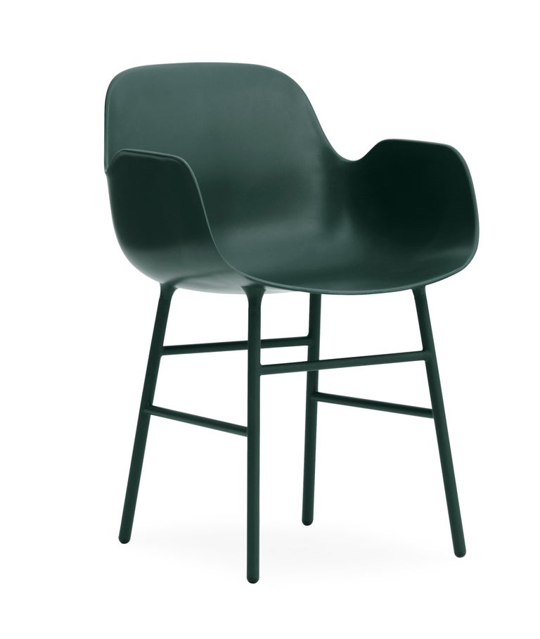 For Sale: Green (Form Green) Normann Copenhagen Form Armchair in Steel by Simon Legald