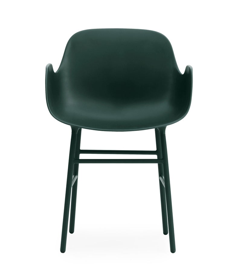 For Sale: Green (Form Green) Normann Copenhagen Form Armchair in Steel by Simon Legald 2