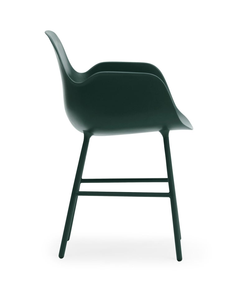 For Sale: Green (Form Green) Normann Copenhagen Form Armchair in Steel by Simon Legald 3