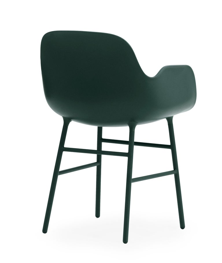 For Sale: Green (Form Green) Normann Copenhagen Form Armchair in Steel by Simon Legald 4