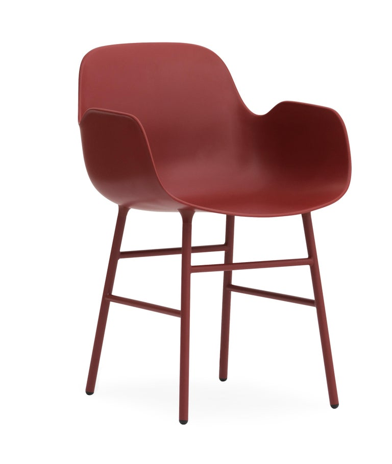 For Sale: Red (Form Red) Normann Copenhagen Form Armchair in Steel by Simon Legald