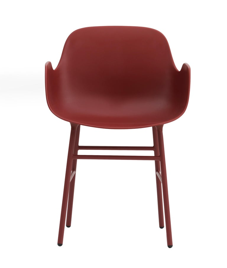 For Sale: Red (Form Red) Normann Copenhagen Form Armchair in Steel by Simon Legald 2