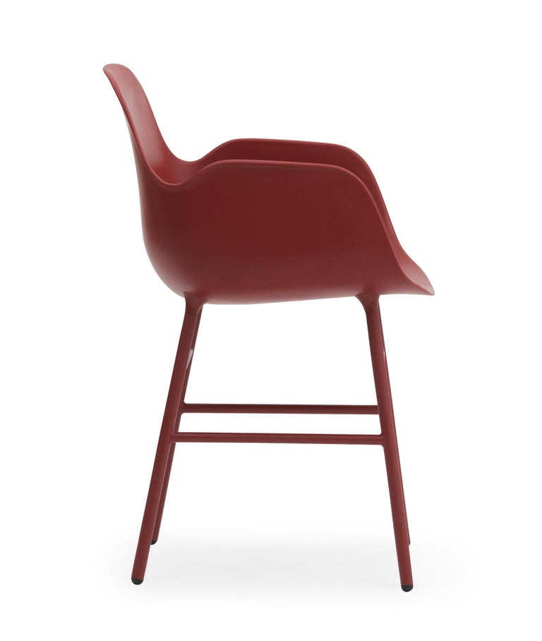 For Sale: Red (Form Red) Normann Copenhagen Form Armchair in Steel by Simon Legald 3