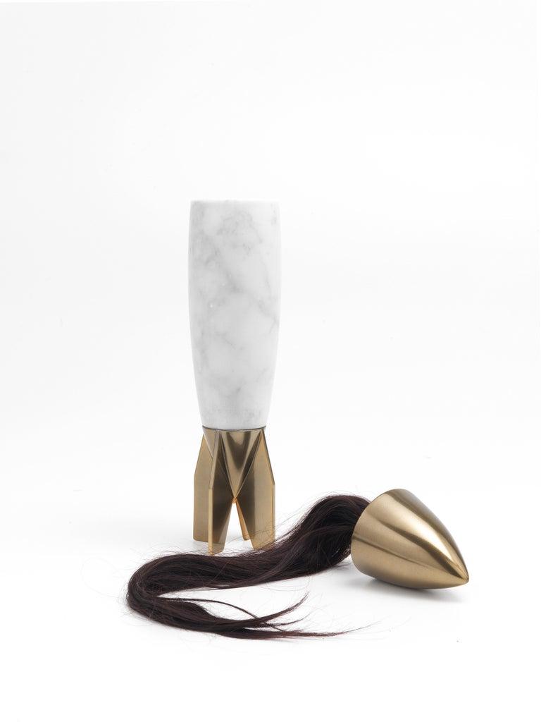 For Sale: White (Carrara Marble) Jumbo Group/JCP Universe Rapunza Vase by Richard Yasmine 2