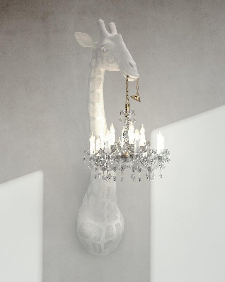 For Sale: White Qeeboo Giraffe in Love Wall Lamp by Marcantonio 2